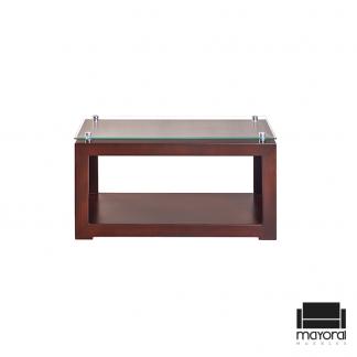 mesa de centro, mesa de centro con cristal, mesa de centro de madera