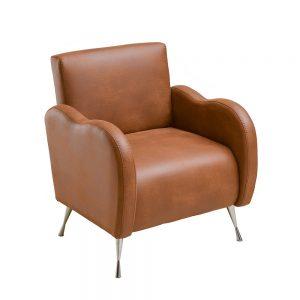 sillón individual café